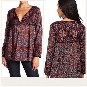 Sanctuary Anthropologie Boho Peasant blouse